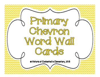Primary Chevron Word Wall Cards