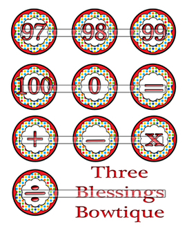 Primary Circus Dot Number Set including Operation Signs 1 to 100