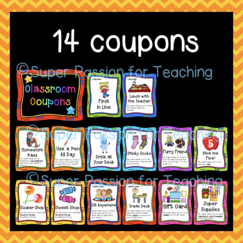 Primary Classroom Coupons 3 Sizes