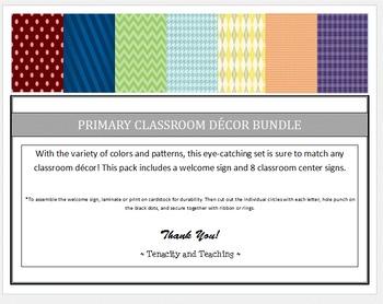 Primary Classroom Decor Bundle
