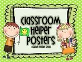 Primary Classroom Helper Posters