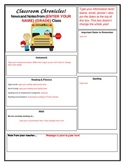 Primary Classroom Newsletter Template and Sample- Easy to