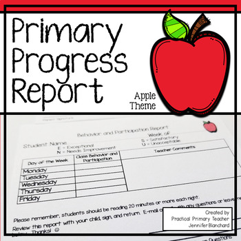 Primary Progress Report - Apple