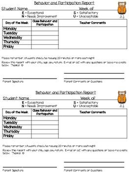 Primary Progress Report - Owl