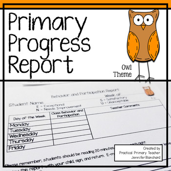 Primary Progress Report - Owl