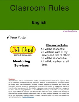 Primary Classroom Rules / English