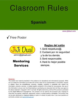 Primary Classroom Rules / Spanish
