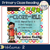 Primary CloZe Reads with Comprehension & Vocabulary Vol. 2 {Standards Based}