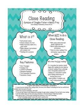 Primary Close Reading