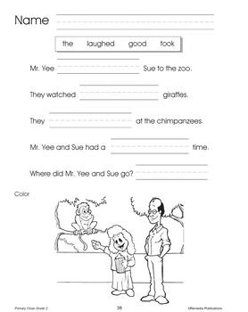 Primary Cloze Reading (Grade 2)