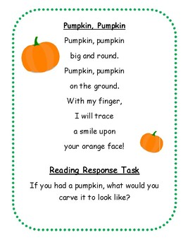 Primary Collection of Seasonal Poetry with Corresponding Tasks