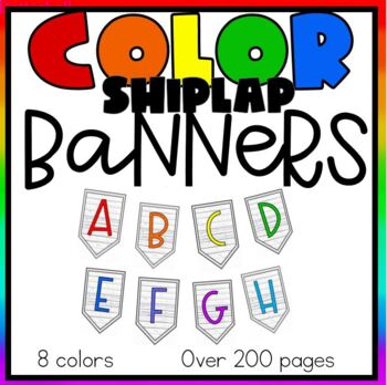 Primary Color Banners- EVERY LETTER-