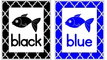Primary Color Cards - Fish