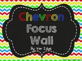 Primary Color Chevron Focus Wall {Chalkboard}