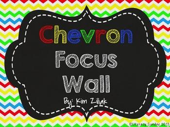 Primary Color Chevron Focus Wall {Chalkboard}