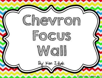 Primary Color Chevron Focus Wall {White}