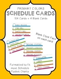 Primary Color Classroom Schedule Cards