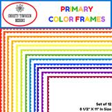 Primary Color Frames for Teachers, Moms & More.