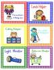 Primary Color Polka Dot Classroom Job Cards