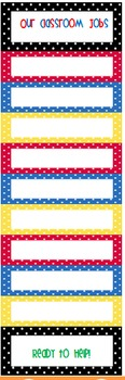 Primary Color Polka Dot Classroom Resources!