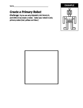 Primary Color Robot: Mondrian Unit, Rough Draft