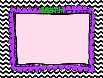 Primary Color Theme Open House/Meet the Teacher Slide Show Presentation