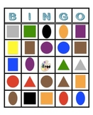 Primary Color and Shape Bingo