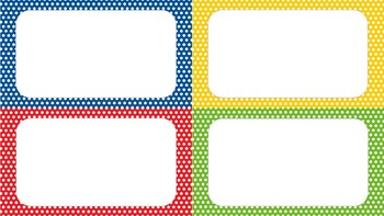 Primary Color labels  - EDITABLE