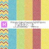 Primary Colored Chevron Digital Paper