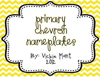 Primary Colored Chevron Nameplates