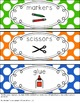 Primary Colored Classroom Labels