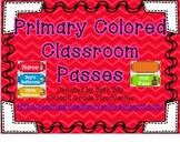 Primary Colored Classroom Passes
