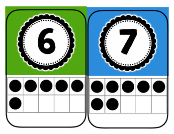 Primary Colored Numbers 1-20 Ten Frames