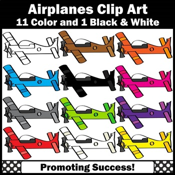 Primary Colors Airplane Clip Art for Transportation Unit Airplanes Clipart SPS
