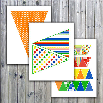 primary colors banner printable includes 30 different flags in 3 sizes. Black Bedroom Furniture Sets. Home Design Ideas
