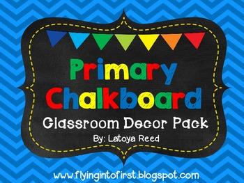 Primary Colors Chalk Decor