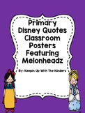 Primary Colors Disney Posters Featuring Melonheadz