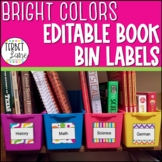 Classroom Library Labels for Book Bins Editable