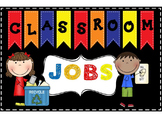 Primary Colors Editable Job Chart or Bulletin Board