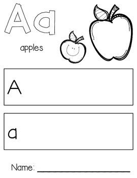 Aa for Apple - Letter Practice Worksheet