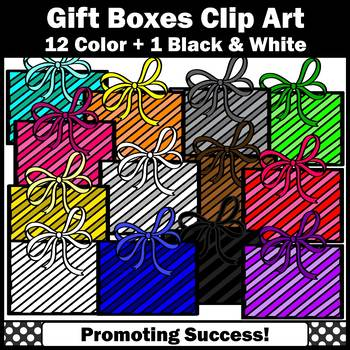 Christmas or Birthday Presents Clipart Primary Colors SPS