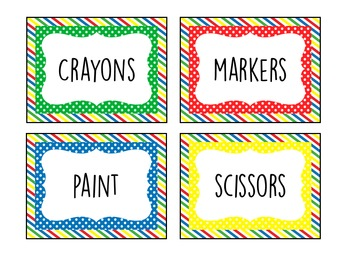 Primary Colors Labels