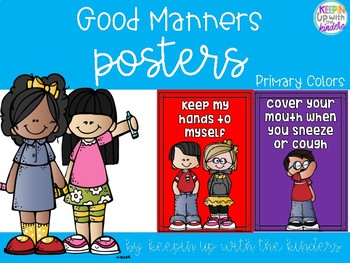 Primary Colors Manners Posters Featuring Melonheadz