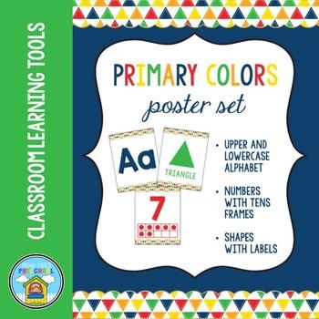 Primary Colors Preschool Poster Set