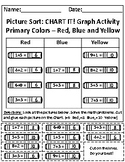 Primary Colors: Red, Blue and Yellow Picture Sort Graph Activity
