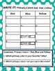 Primary Colors: Red, Blue, Yellow Picture Sort Graph Activity and Chart Activity