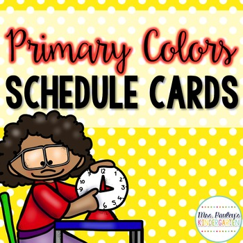 Primary Colors Schedule Cards