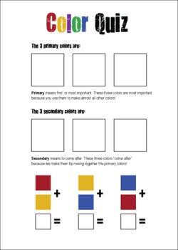 primary colors secondary colors quiz by grass carpet studio tpt. Black Bedroom Furniture Sets. Home Design Ideas