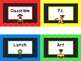 Primary Colors Where is the Class Classroom Chart. Classro