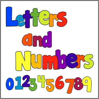 Primary Colours Alphabet, Number & Punctuation Clipart